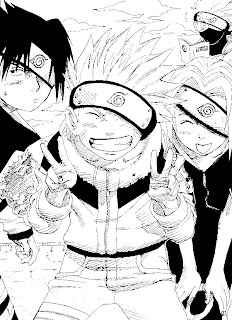Naruto coloring book pages