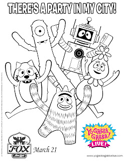 Yo Gaba Gaba coloring pages