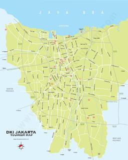 Jakarta Indonesia maps