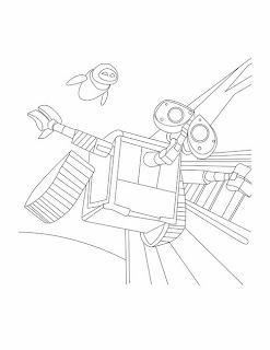 Disney Pixar Wall-E coloring pages