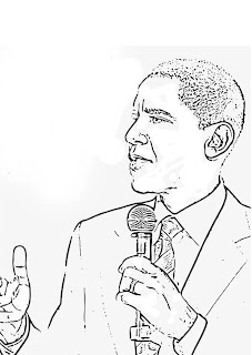 Barack Obama coloring sheets to print out and colour