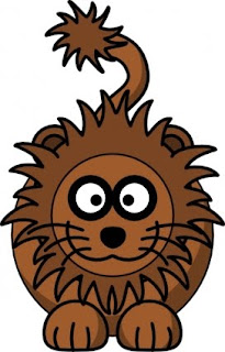 Cute cartoon lion clipart image