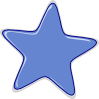 Light blue star clipart with rounded edges