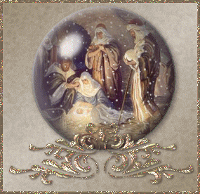 Lovely animated nativity clip art picture