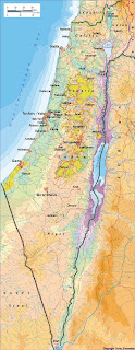 Map of Israel and the Palestinian territories
