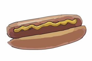 More mustard hot dogs clipart pictures