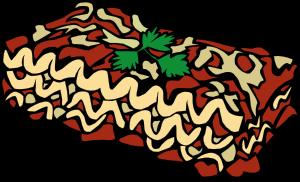 Pasta lasagna clipart