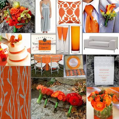 Orange Gray