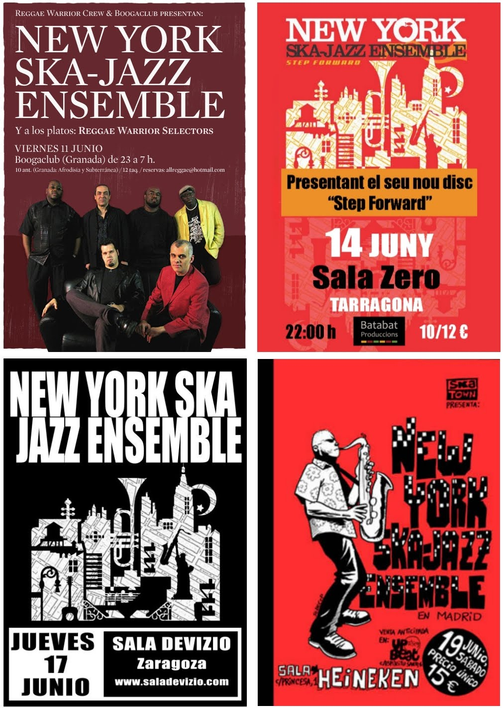 ... ENSEMBLE on tour junio / ekaina / june 2010 (FLYERS) : BRIXTON RECORDS