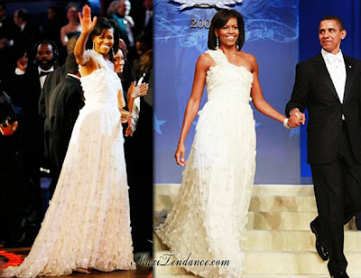 michelle obama en jason wu pour le bal d'inauguration obama_wu1