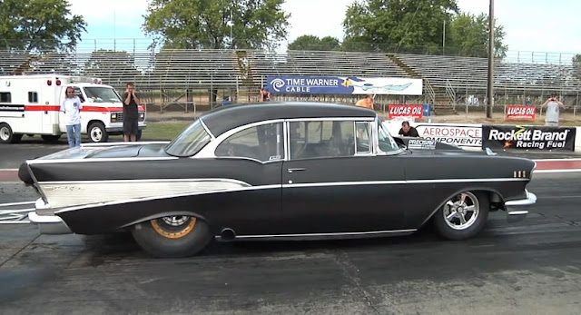 200-mph '57 Chevy @ Hot Rod
