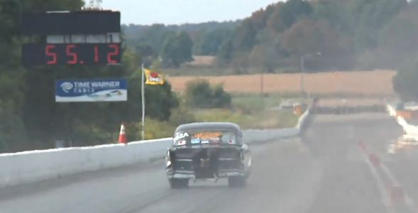 200-mph '57 Chevy @ Hot Rod Drag Week... In-Car Video!