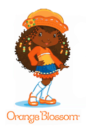 Orange Blossom - Strawberry Shortcake- African American Kids TV Characters