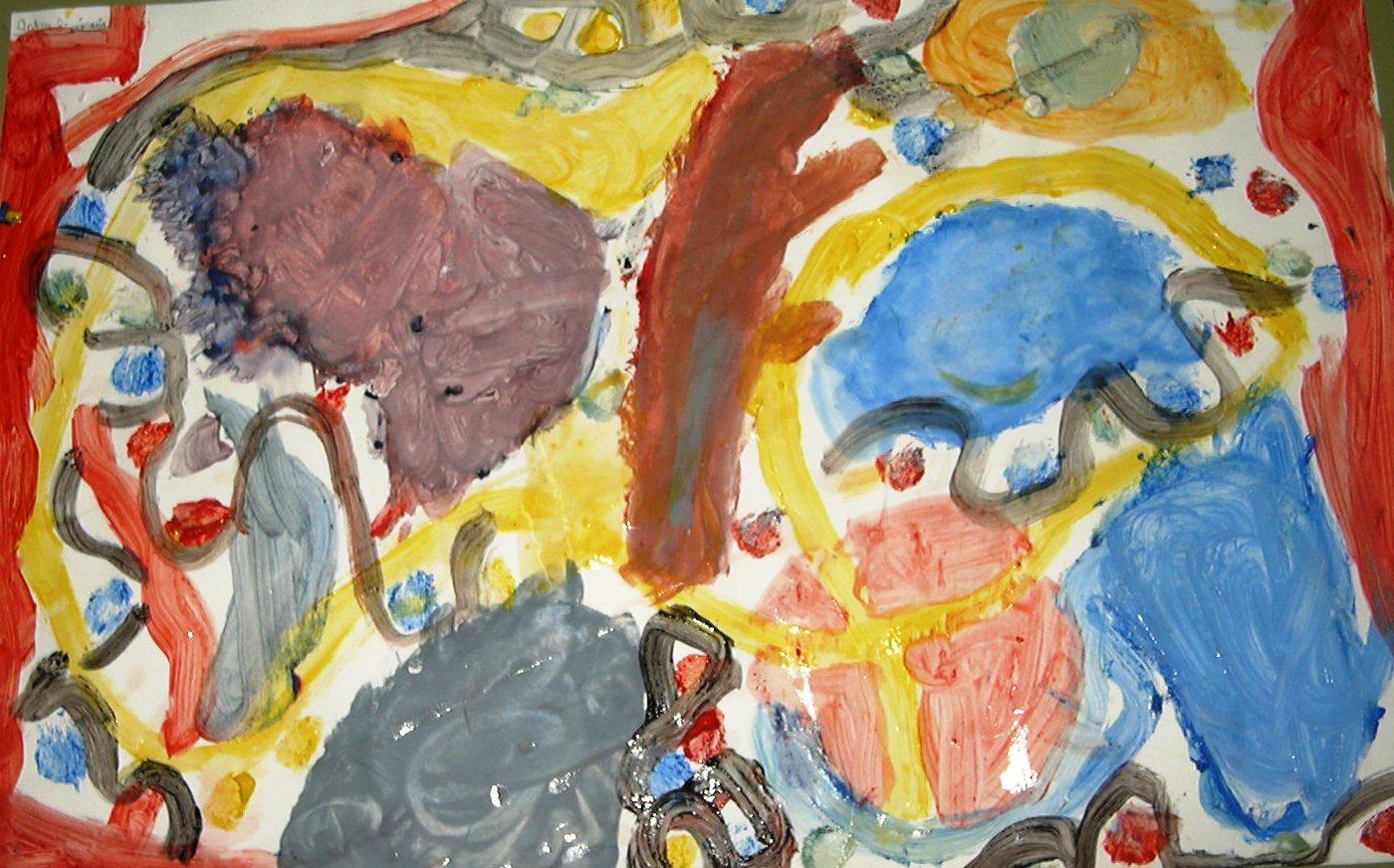 Kandinsky/ imatge ( obra d´un infant de 5 anys)