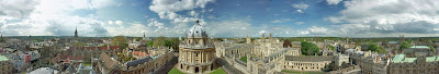 Panorama of the skyline of Oxford