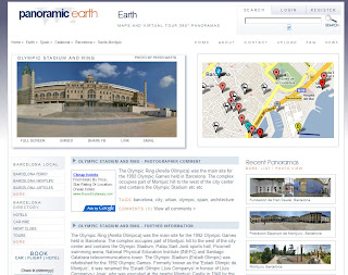 Screenshot of new layout for PanoramicEarth.com
