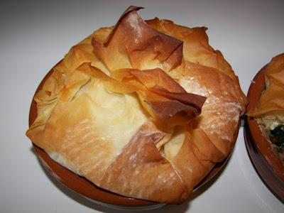 epinards et fromage de chevre pate filo bricks