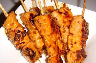 yakitori au saumon
