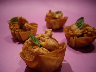 mignardises au poulet thai aperitif