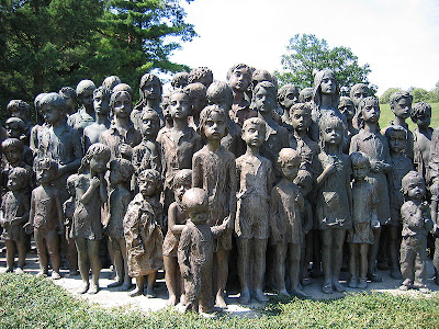 Memorial to the murdered children of Lidice