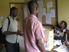 NYCC Co-director, Oyelakin Taiwo at an Advocacy visit to Project site in Warri