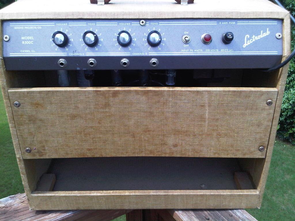 craigslist vintage guitar hunt lectrolab r500c with rare tweed covering original in atlanta. Black Bedroom Furniture Sets. Home Design Ideas