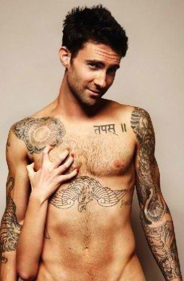 Jane Herman And Adam Levine Adam Levine Tattoos Images: