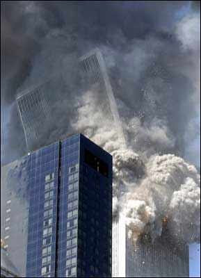 Collapse of the World Trade Center in New York City on September 11, 2001