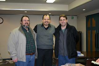 Jonathan Eller, Gilberto, and David Patterson after the 2009 JEMA Plenary Meeting in Ochanomizu, Tokyo, Japan