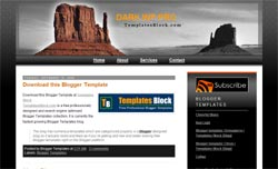 Blogger Template | Dark WP