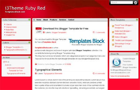 Red White Web2.0 Vista Blogger Template