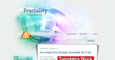 Fractality Sexy Vector Web2.0 Blogger Template