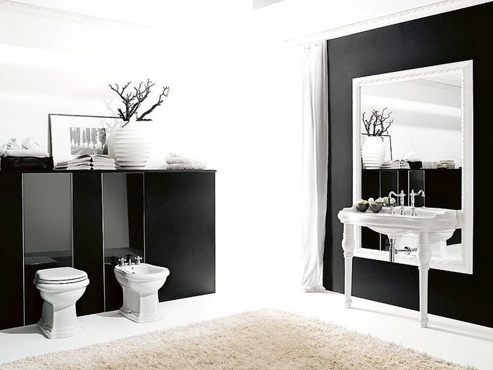 Baño De Tina Natural:Baño Retro de empresa Kerasan Interesante que el espejo baje más
