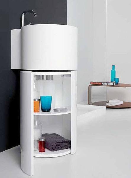 mueble lavabo tambo de empresa inbani es el ovalin redondo y debajo