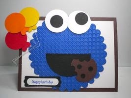 Peanuts and peppers papercrafting stampin up cookie monster here is a birthday card i made for my friends son jake who is turning 1 the scallop circle cookie monster has been done by several people bookmarktalkfo Choice Image