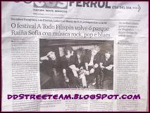 DD's en el diario de Ferrol anunciando el festival A Todo Filispín