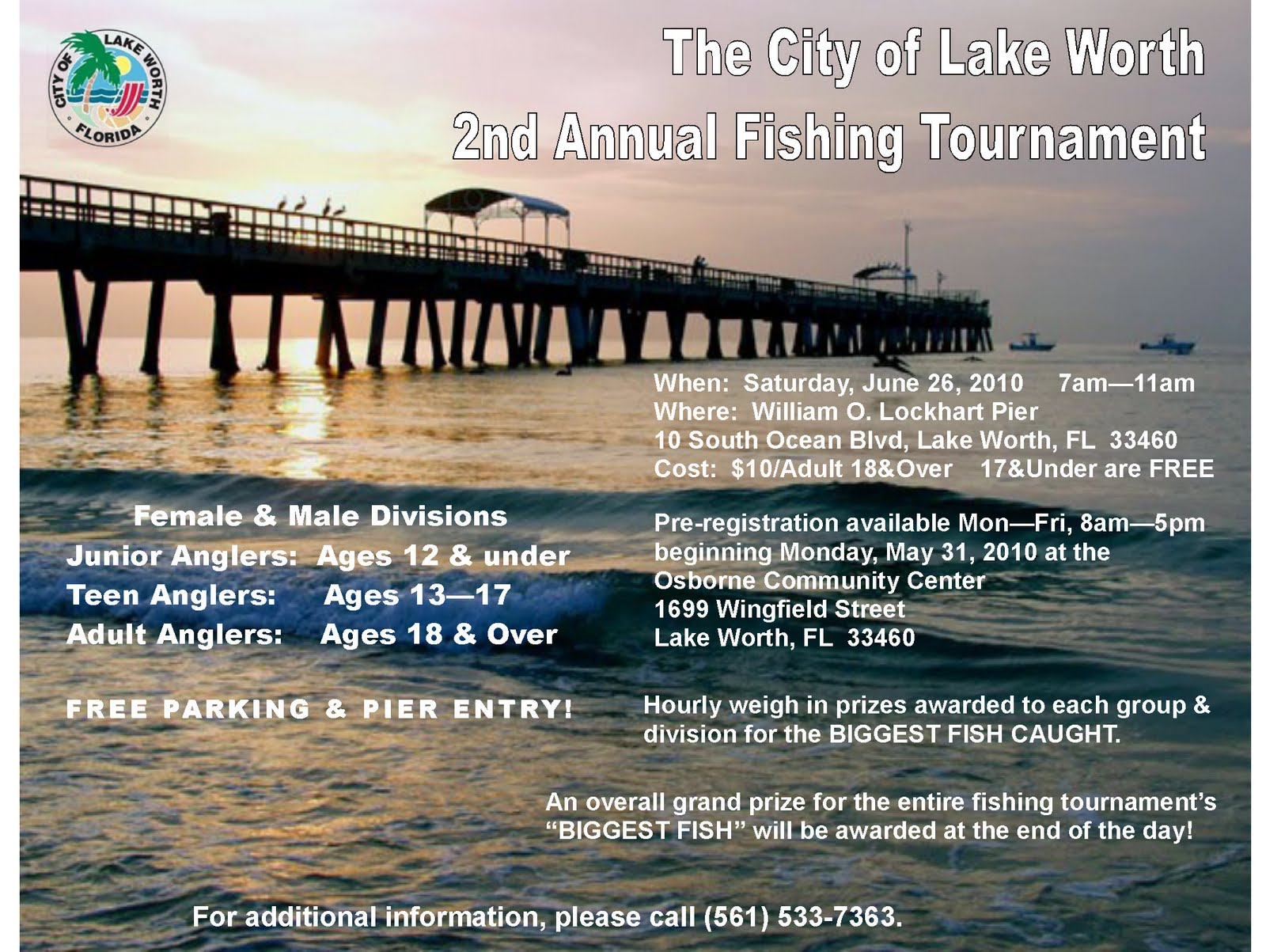 Wes blackman s city of lake worth 2010 05 30 for Lake worth pier fishing