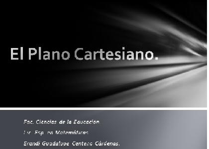 Plano cartesiano definicion