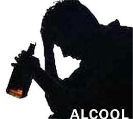 Influenza di alcolismo su mensilmente