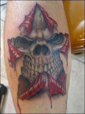 Skulls Tattoos Skulls On Fire Girly Skulls Tattoos aztec skulls