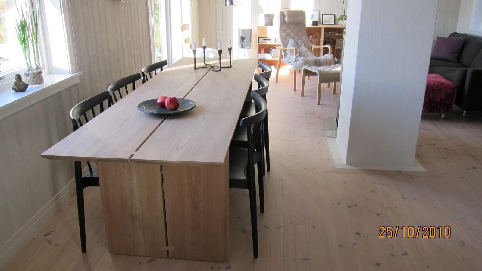 Treverkstedet Snekkermester Åge Sivertsen: Spisebord i Alm. Design ...