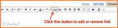 The toolbar in Compose Mode of the New Post Editor in Blogger blogspot