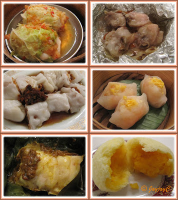 Some of the steamed dim sum available at Meisan Szechuan Restaurant