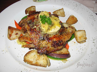Tangier Butterfish - grill butterfish with mixed grilled veggie topped with melted butter