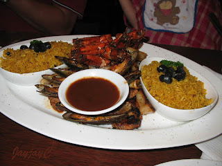 Grande Figo Grill Seafood - mixed grill seafood platter serve with rice for 2 pax