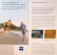 Zeiss brochure on cataract and the ZO aspheric intraocular lenses