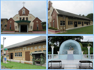 Church of St John Vianney in Tampin, Negeri Sembilan - the different external views and a grotto of Blessed Mother Mary in its compound