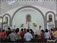 Some pilgrims inside the Church of St. Paul the Apostle, at Kuala Kubu Baru, Ulu Selangor, Selangor