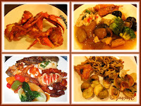 Photo collage of assorted food fare at Shogun Restaurant, 1 Utama