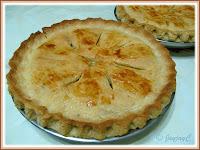 Apple pie for dessert on Christmas day